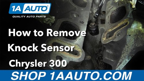 small resolution of how to replace knock sensor 05 10 chrysler 300
