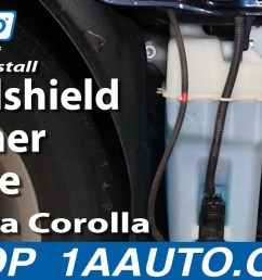 how to replace windshield washer reservoir 03 08 toyota corolla 1a auto [ 1280 x 720 Pixel ]