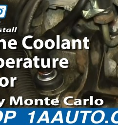 how to replace coolant temperature sensor 81 05 chevy monte carlo 1a auto [ 1280 x 720 Pixel ]