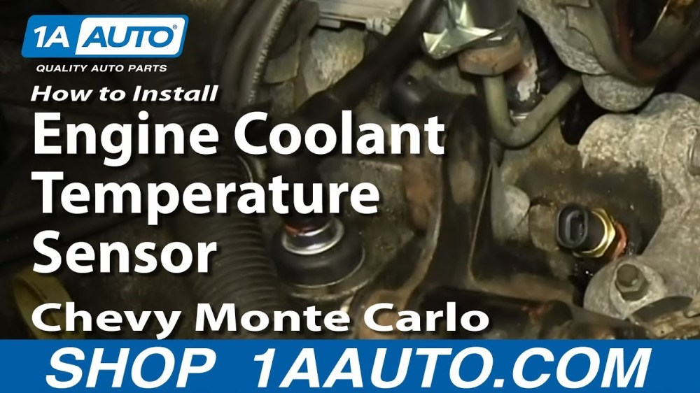 medium resolution of how to replace coolant temperature sensor 81 05 chevy monte carlo 1a auto