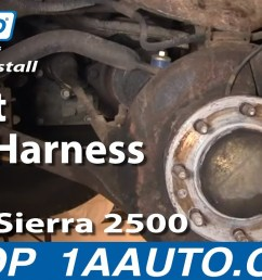 how to replace abs speed sensor with harness 99 04 gmc sierra 2500 1a auto [ 1280 x 720 Pixel ]