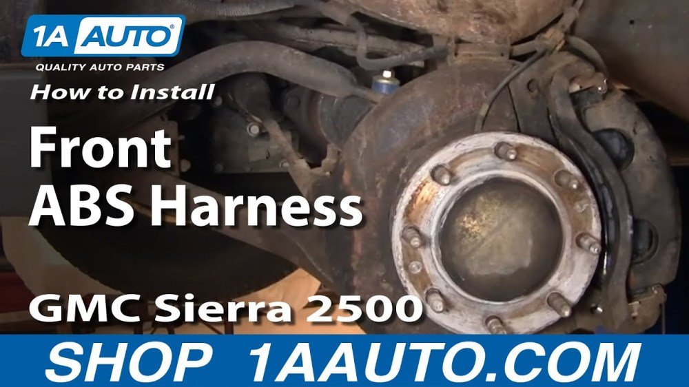 medium resolution of how to replace abs speed sensor with harness 99 04 gmc sierra 2500 1a auto