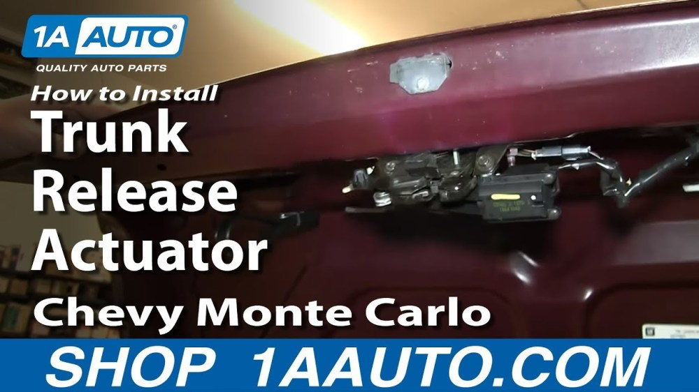 medium resolution of how to replace trunk lid release actuator 95 07 chevy monte carlo 1a auto