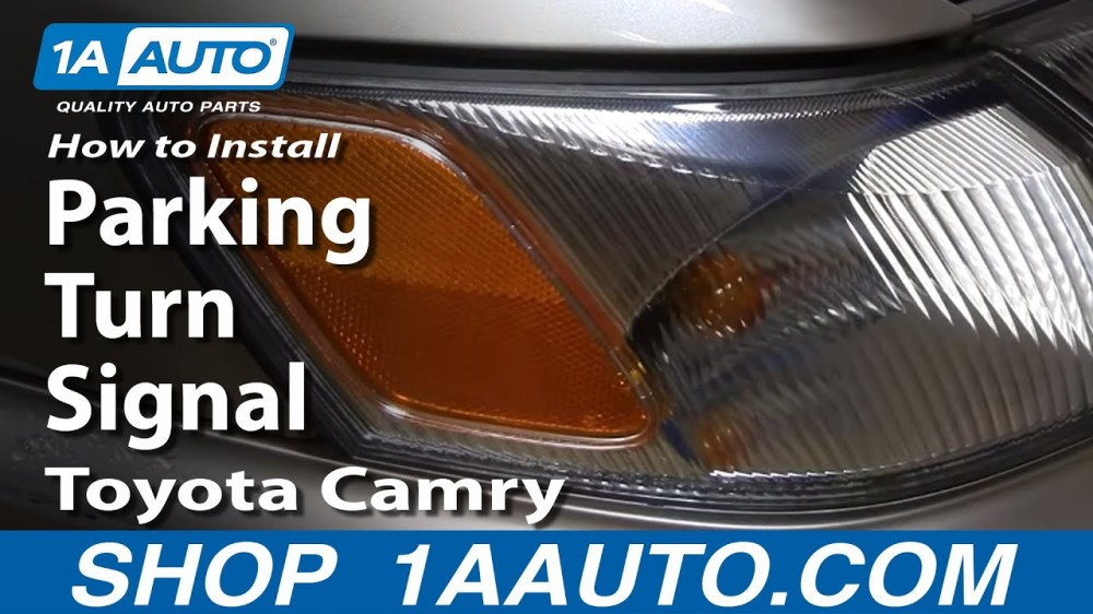 medium resolution of how to replace corner light 97 99 toyota camry