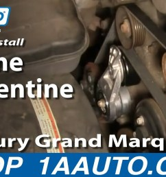 how to replace serpentine belt 00 02 mercury grand marquis 4 6l 1a auto [ 1280 x 720 Pixel ]