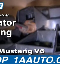 how to replace radiator cooling fan assembly 97 98 ford mustang 1a auto [ 1280 x 720 Pixel ]