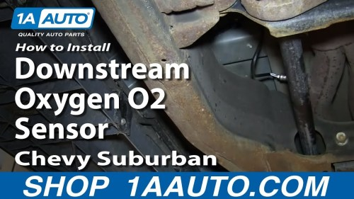 small resolution of how to replace downstream o2 oxygen sensor 00 02 chevy suburban 1a auto