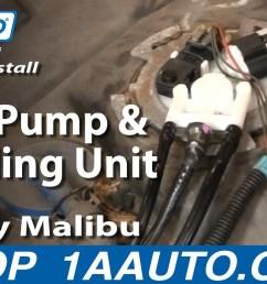 how to replace fuel pump sending unit module 00 03 chevy malibu 1a auto [ 1280 x 720 Pixel ]