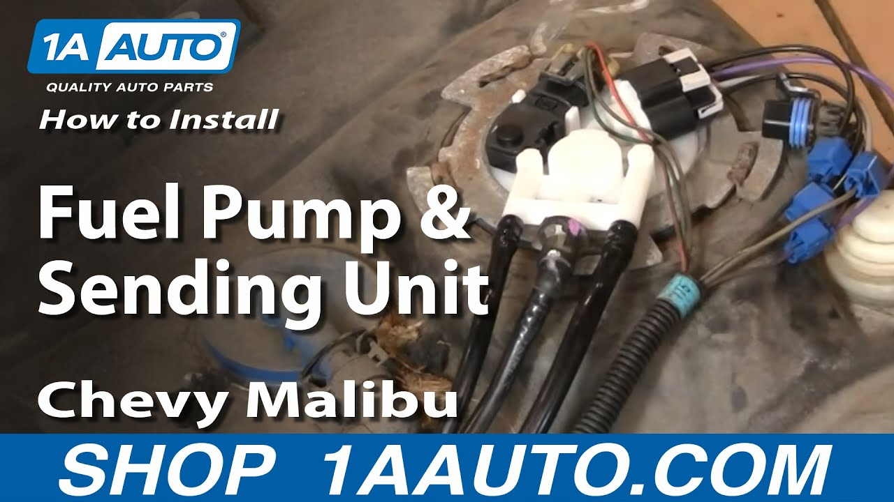 hight resolution of how to replace fuel pump sending unit module 00 03 chevy malibu
