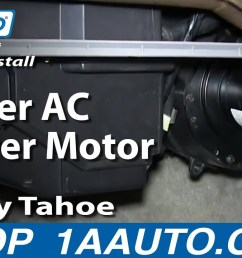 how to replace heater blower motor with fan cage 95 96 chevy tahoe 1a auto [ 1280 x 720 Pixel ]