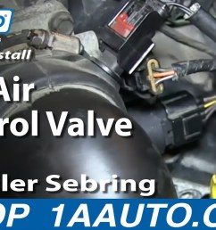 how to replace idle air control valve 2 7l 01 06 chrysler sebring dodge stratus 1a auto [ 1280 x 720 Pixel ]