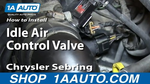 small resolution of how to replace idle air control valve 2 7l 01 06 chrysler sebring dodge stratus 1a auto