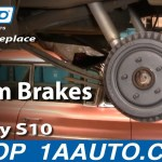 How To Replace Rear Drum Brakes 92 03 Chevy S10 Pickup 1a Auto