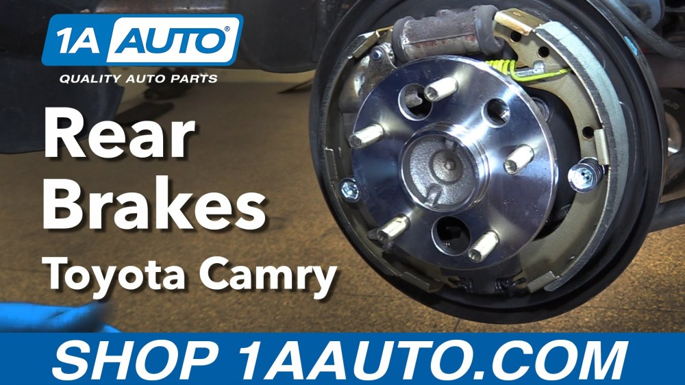 medium resolution of how to replace rear drum brakes 97 01 toyota camry