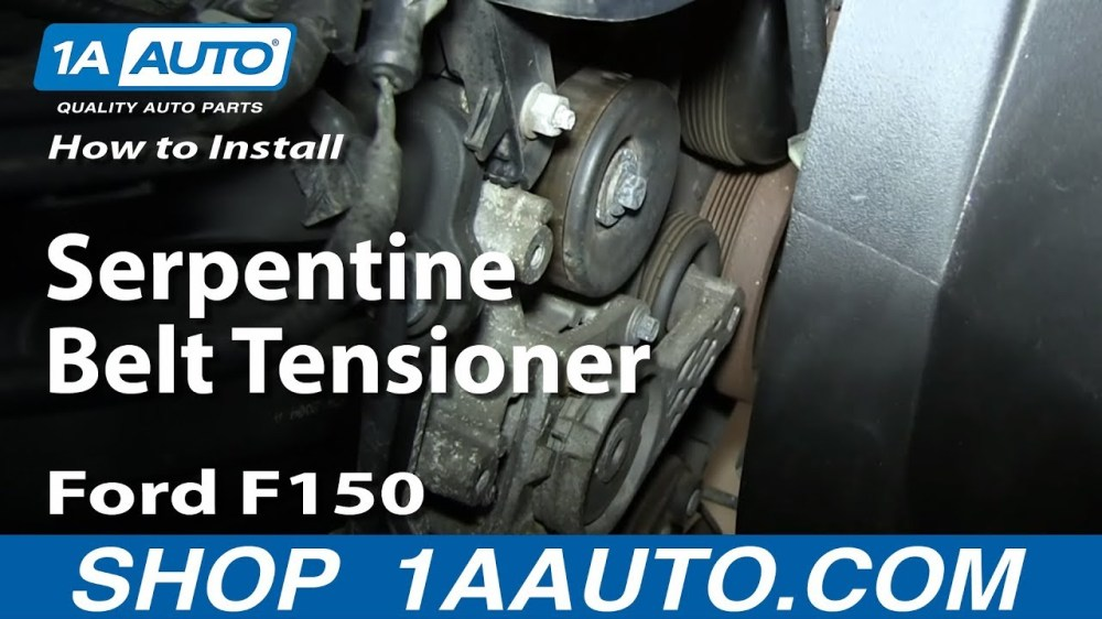 medium resolution of how to replace serpentine belt tensioner 04 08 4 6l v8 ford f150 1a auto