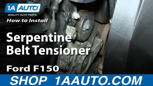 small resolution of how to replace serpentine belt tensioner 04 08 4 6l v8 ford f150 1a auto