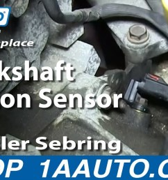 how to replace crankshaft position sensor 01 06 chrysler sebring 2 7l 1a auto [ 1280 x 720 Pixel ]