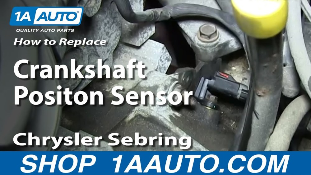 medium resolution of how to replace crankshaft position sensor 01 06 chrysler sebring 2 7l 1a auto
