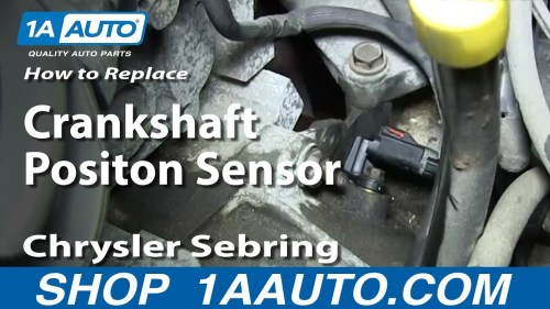 small resolution of how to replace crankshaft position sensor 01 06 chrysler sebring 2 7l 1a auto