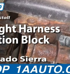 how to replace tail light combination junction block 99 04 gmc sierra 2500 1a auto [ 1280 x 720 Pixel ]