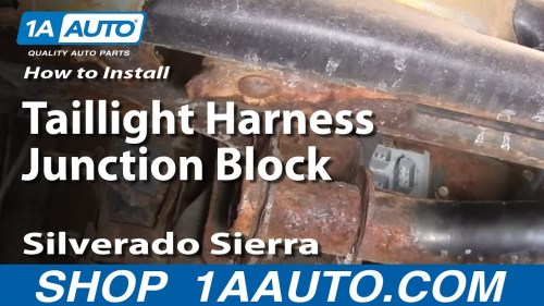 small resolution of how to replace tail light combination junction block 99 04 gmc sierra 2500 1a auto
