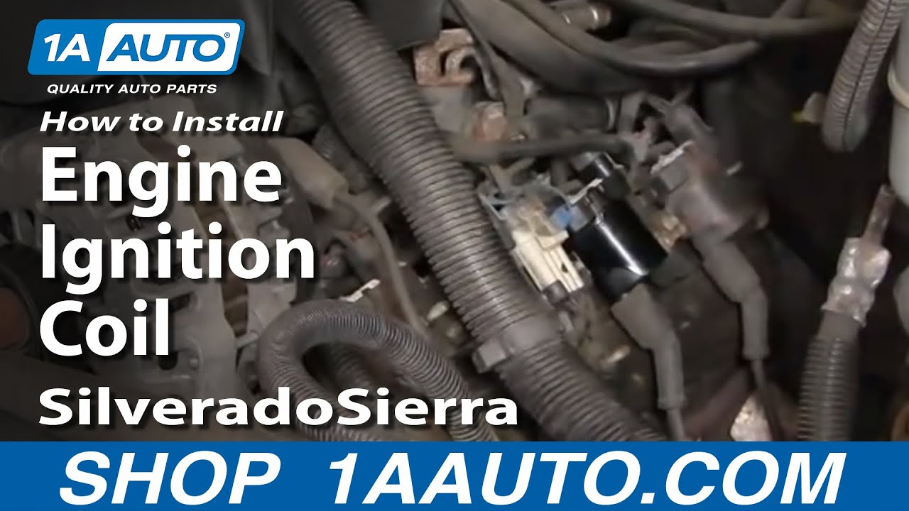 hight resolution of how to replace ignition coil 99 04 gmc sierra 2500 1a auto 99 gmc 99 yukon coil diagram
