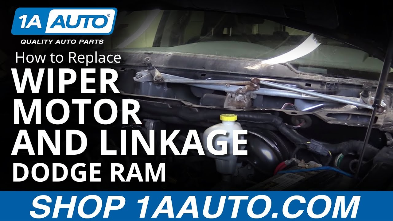 hight resolution of how to replace windshield wiper motor linkage 04 10 dodge ram 1a auto