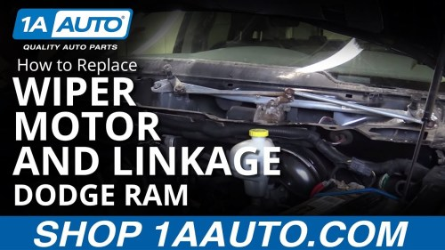 small resolution of how to replace windshield wiper motor linkage 04 10 dodge ram 1a auto