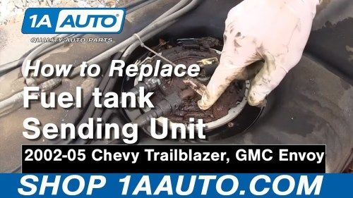 small resolution of how to replace fuel pump sending unit module 02 04 gmc envoy xl