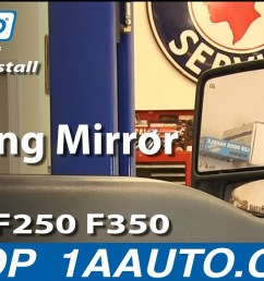 how to install replace towing mirror ford f250 f350 super duty xlt 2015 ford f250 mirror wiring diagram ford f250 mirror wiring [ 1280 x 720 Pixel ]