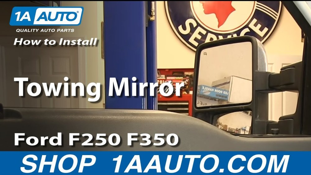 medium resolution of how to install replace towing mirror ford f250 f350 super duty xlt 1a auto