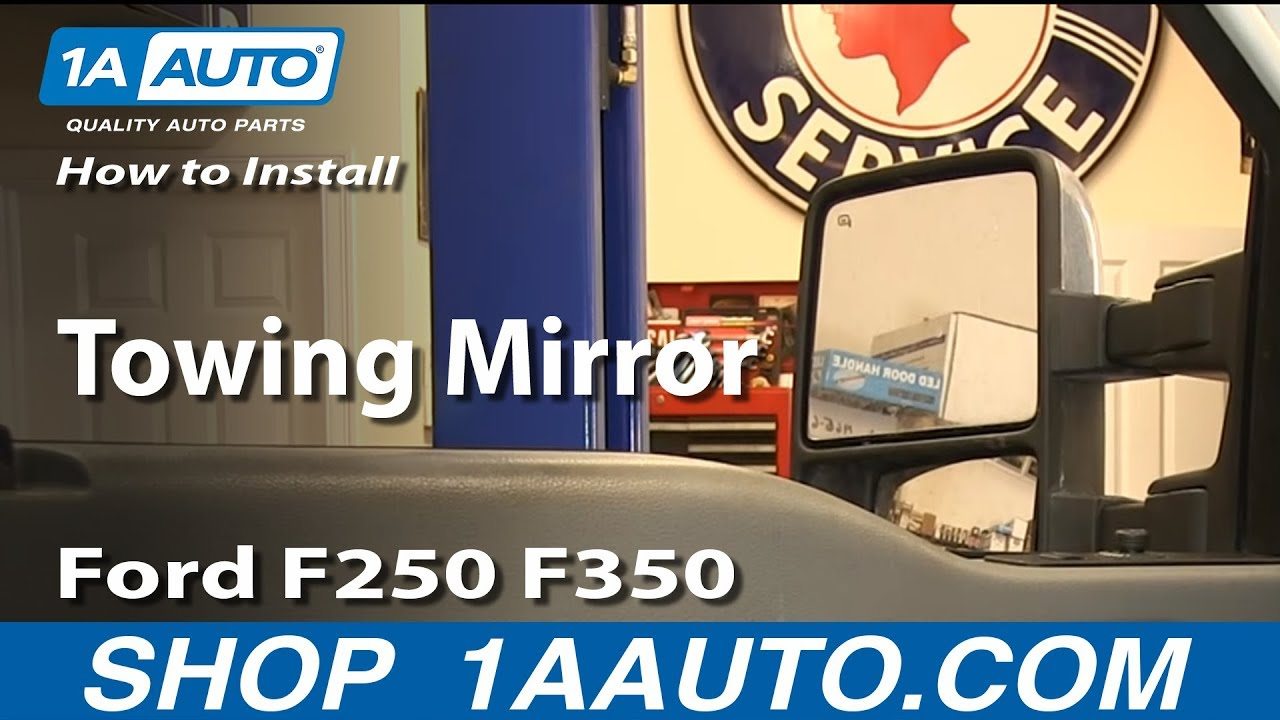 hight resolution of how to install replace towing mirror ford f250 f350 super duty xlt 2015 ford f250 mirror wiring diagram ford f250 mirror wiring