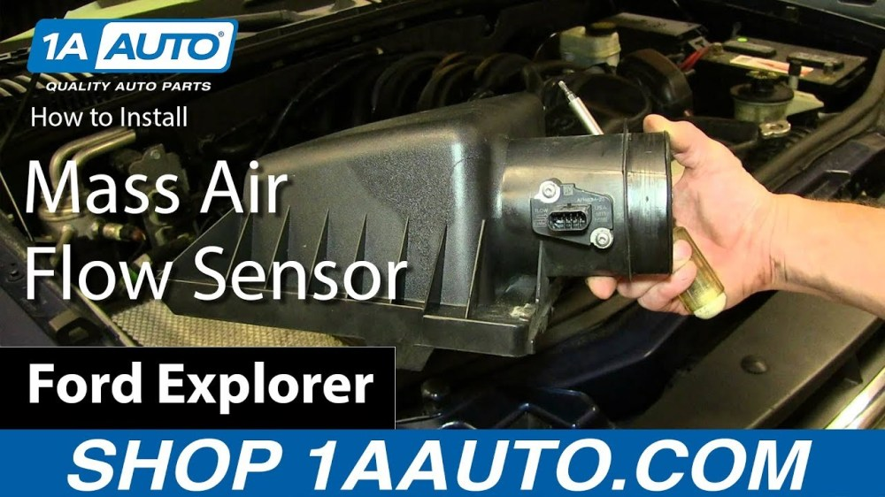 medium resolution of how to replace air flow meter sensor 04 13 ford explorer 4 6l v8 1a auto