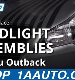 how to replace headlight assemblies 10 14 subaru outback [ 1280 x 720 Pixel ]