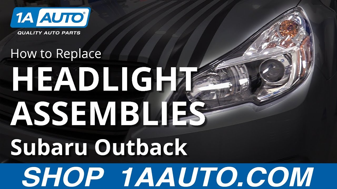 hight resolution of how to replace headlight assemblies 10 14 subaru outback