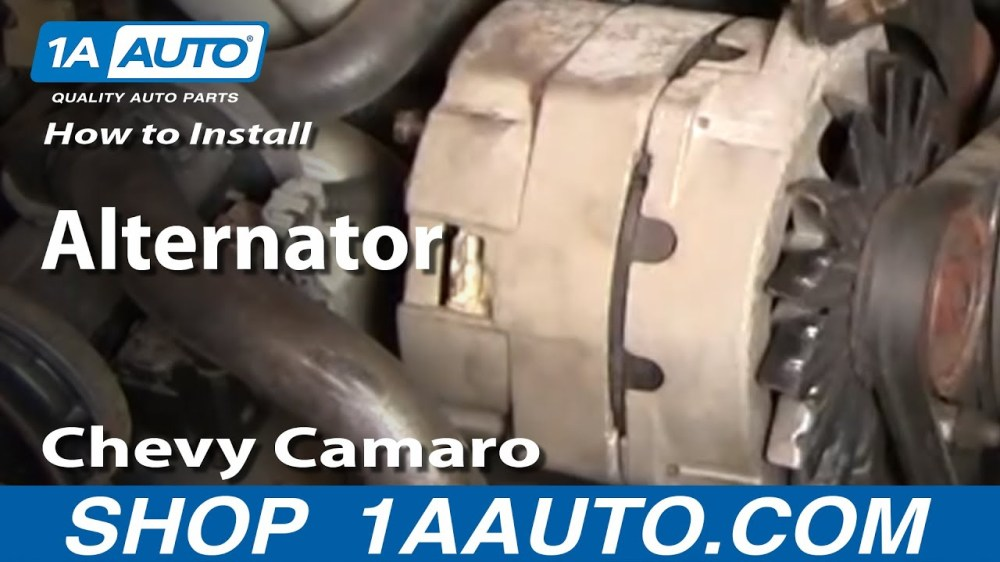 medium resolution of how to replace alternator 85 86 chevy camaro
