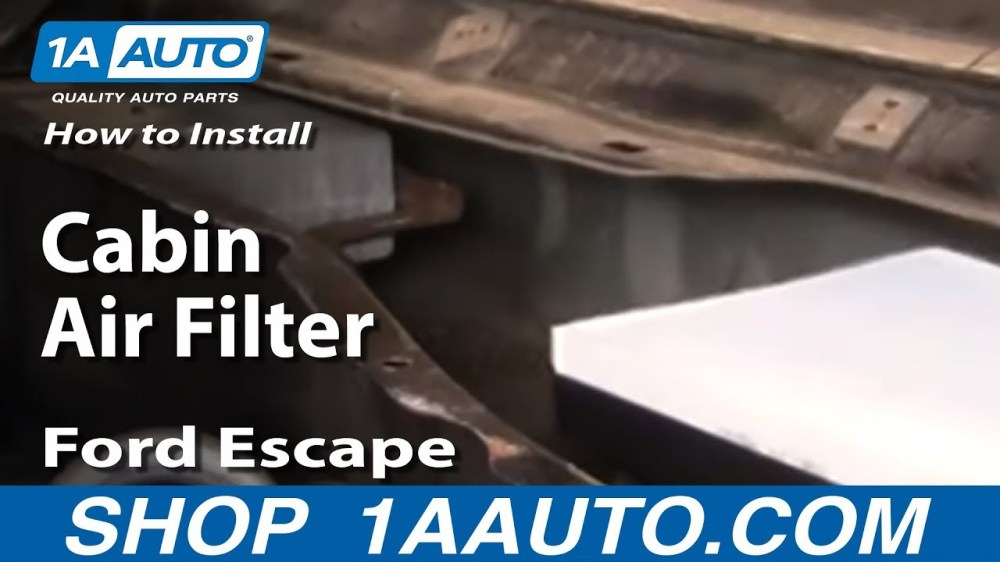 medium resolution of how to replace cabin air filter 01 07 ford escape