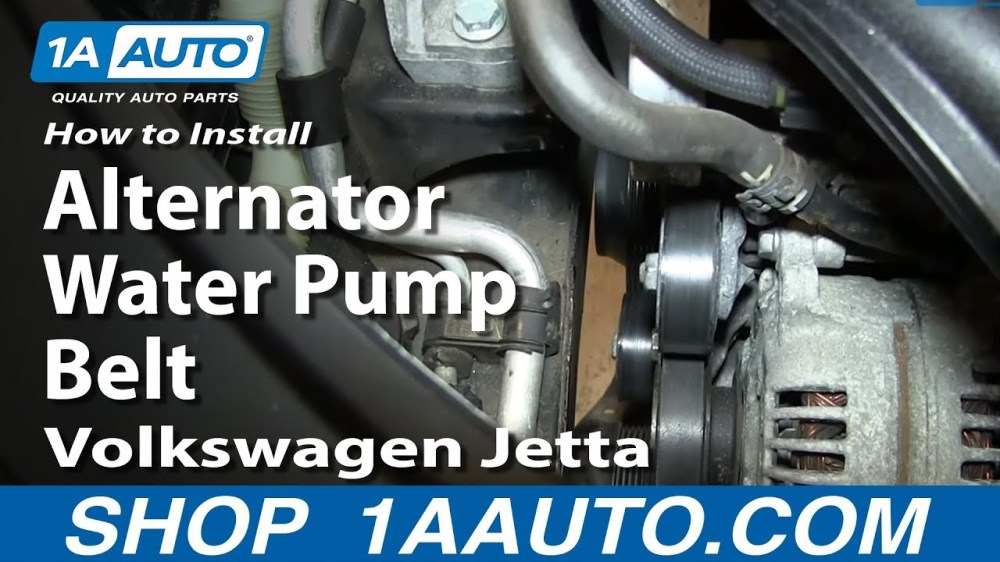 medium resolution of how to replace alternator water pump belt 05 10 2 5l volkswagen jetta 1a auto