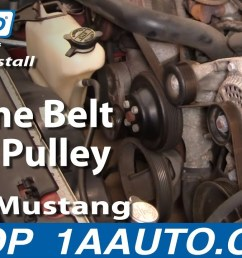how to replace idler pulley 96 10 ford mustang 1a auto4 6 2001 lincoln town car [ 1280 x 720 Pixel ]