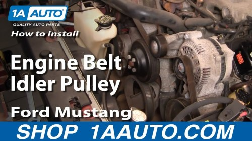 small resolution of how to replace idler pulley 96 10 ford mustang 1a auto4 6 2001 lincoln town car