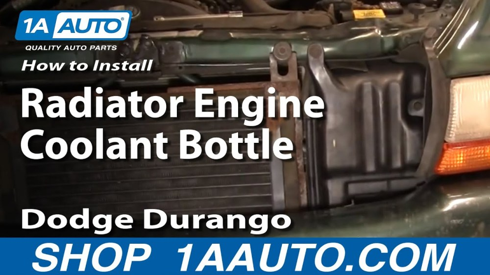 medium resolution of how to replace radiator coolant overflow bottle 98 99 dodge durango 1a auto
