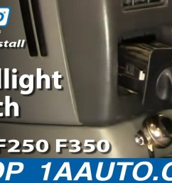 how to replace headlight switch 01 24 ford f250 super duty truck 1a auto [ 1280 x 720 Pixel ]