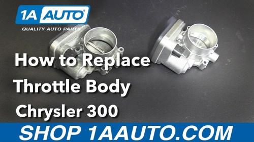 small resolution of how to replace throttle body 05 10 chrysler 300 1a auto throttle body wiring harness 2007 chrysler 300