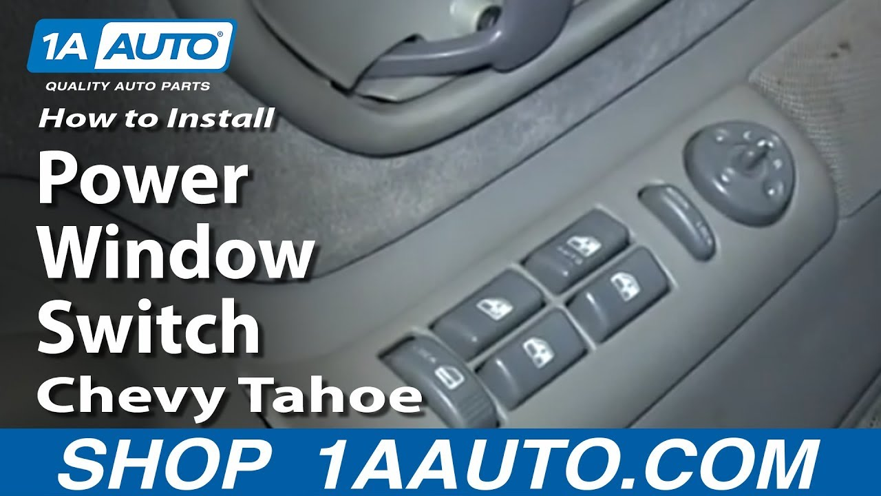 1996 Jeep Grand Cherokee Window Wiring Diagram How To Replace Power Window Amp Door Lock Switch 95 99 Chevy