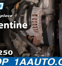 how to replace serpentine belt 03 11 ford f250 super duty truck 1a auto [ 1280 x 720 Pixel ]