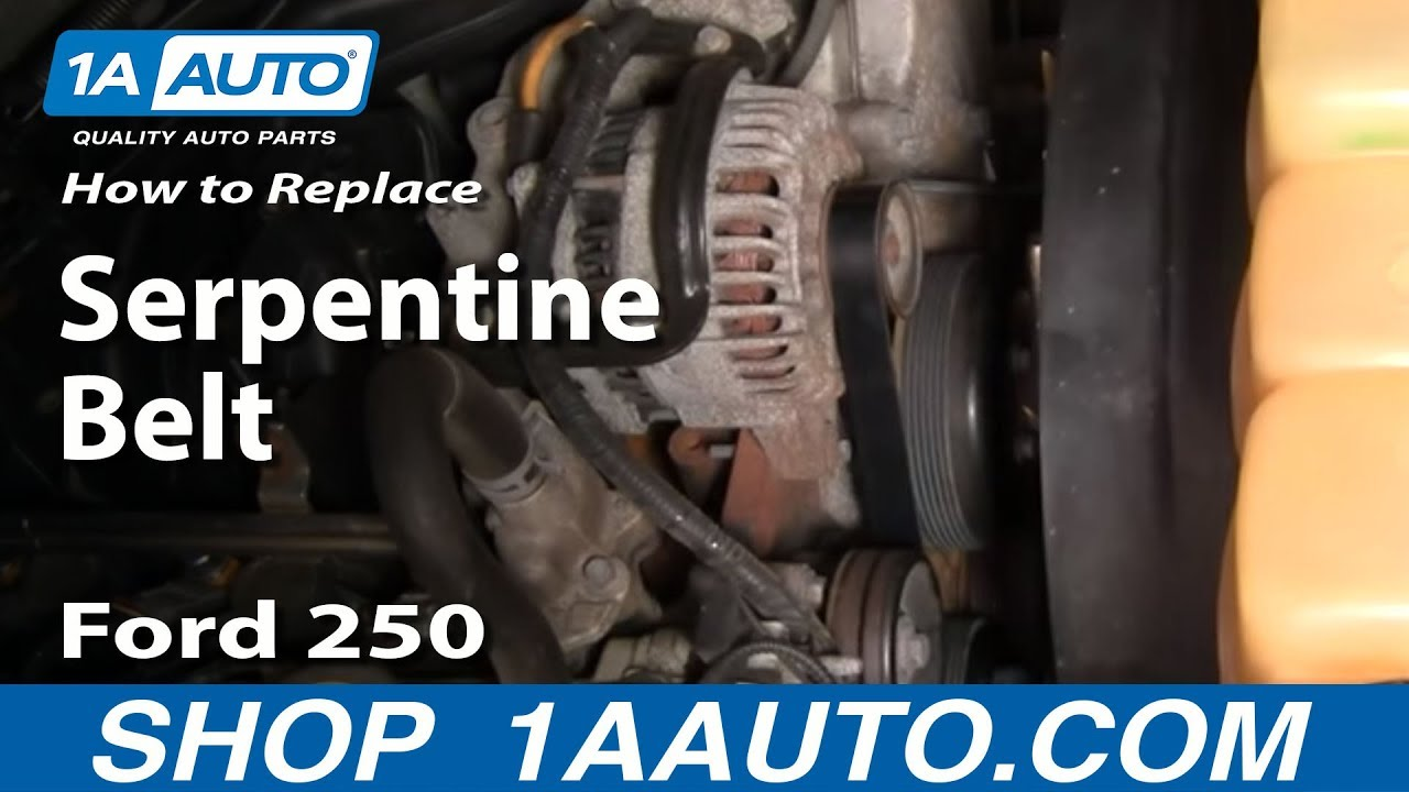 hight resolution of how to replace serpentine belt 03 11 ford f250 super duty truck 1a auto
