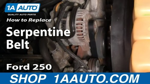 small resolution of how to replace serpentine belt 03 11 ford f250 super duty truck 1a auto