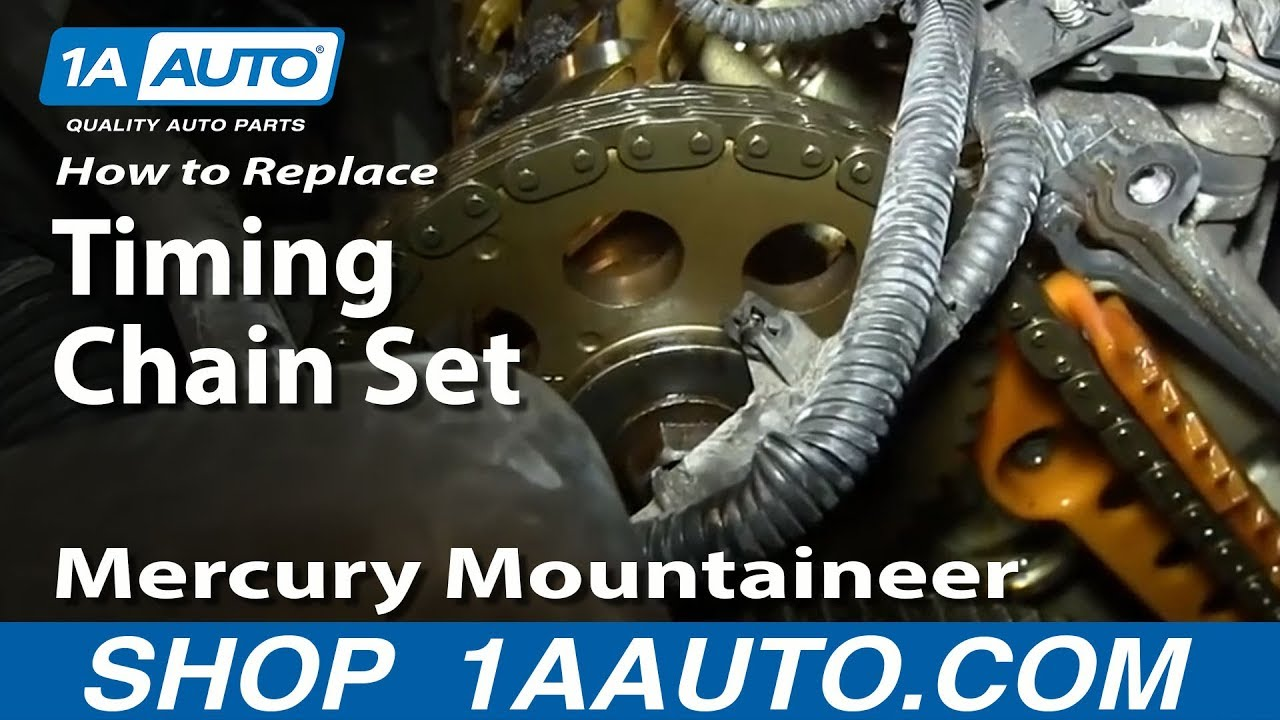 hight resolution of how to replace timing chain set 02 05 mercury mountaineer part 2 1a auto