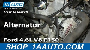 How to Replace Alternator 0408 Ford F150 Truck | 1A Auto