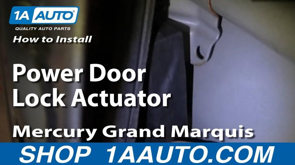 medium resolution of how to replace power door lock actuator 92 03 mercury grand marquis 1a auto